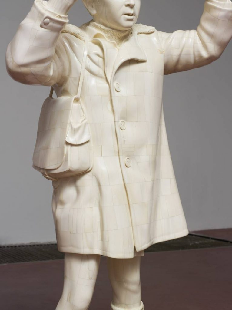 Adel Abdessemed, Mon Enfant, 2014, ivory, height 133 cm, edition 1 of 1 + 1 AP