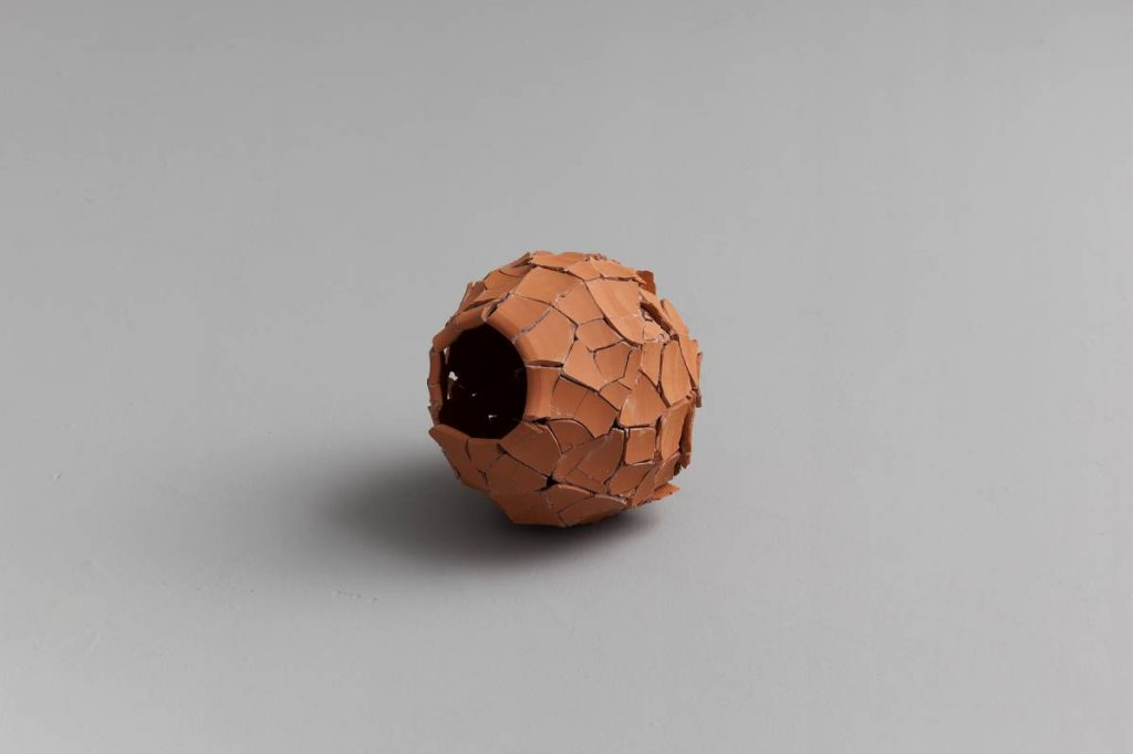 Ariel Schlesinger, Untitled (Inside Out Urn), Earthenware terra-cotta, 23x24x19 cm, unique