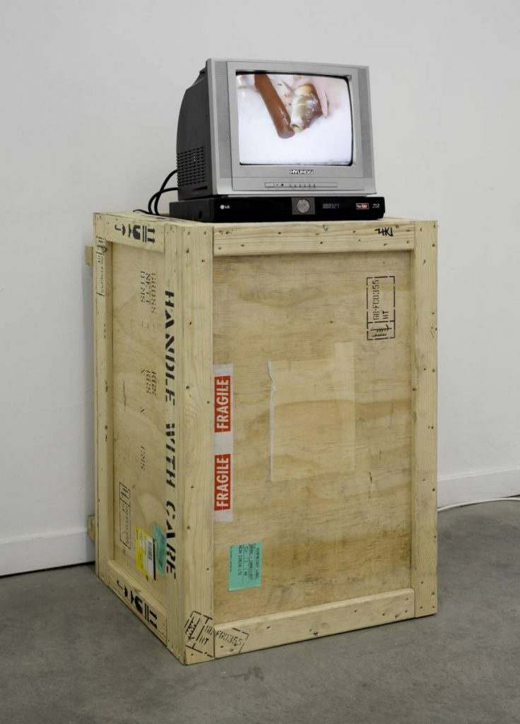 -	Adel Abdessemed, La Capacité qu'a la main, 2006, 1 second video loop, edition of 5