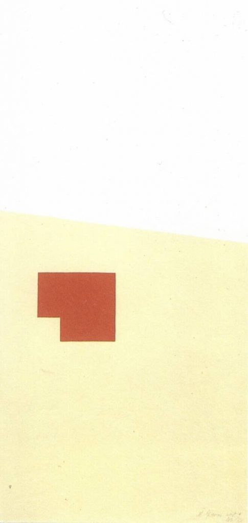 Michael Gross, Untitled, 1971, lithograph and silkscreen, two colours, 70 x 34.8 cm