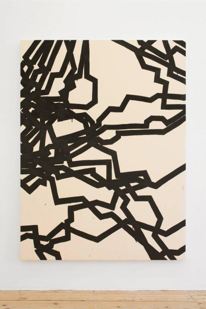 Latifa Echakhch, Dérives, 2015, acrylic paint on canvas, 200x150cm, Unique