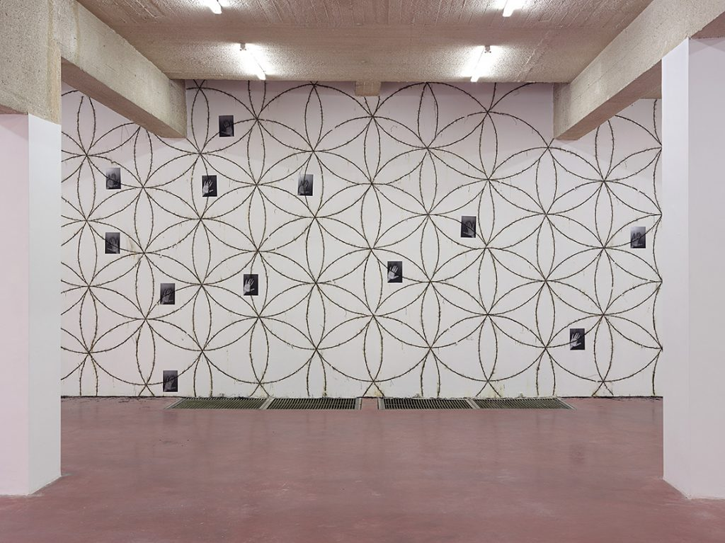 Mircea Cantor, Zera, 2015, wall drawing made out of dynamite blasting caps, paper, dimensions variable
