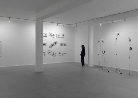 Something turned into a thing, 2011, Exhibition view