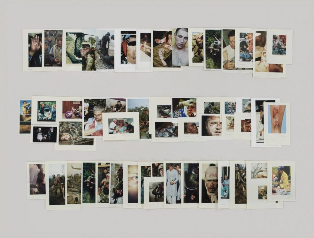 Taryn Simon, Folder Wounded, 2012, Archival inkjet print, 119.4 x 157 cm framed, edition 4 of 5