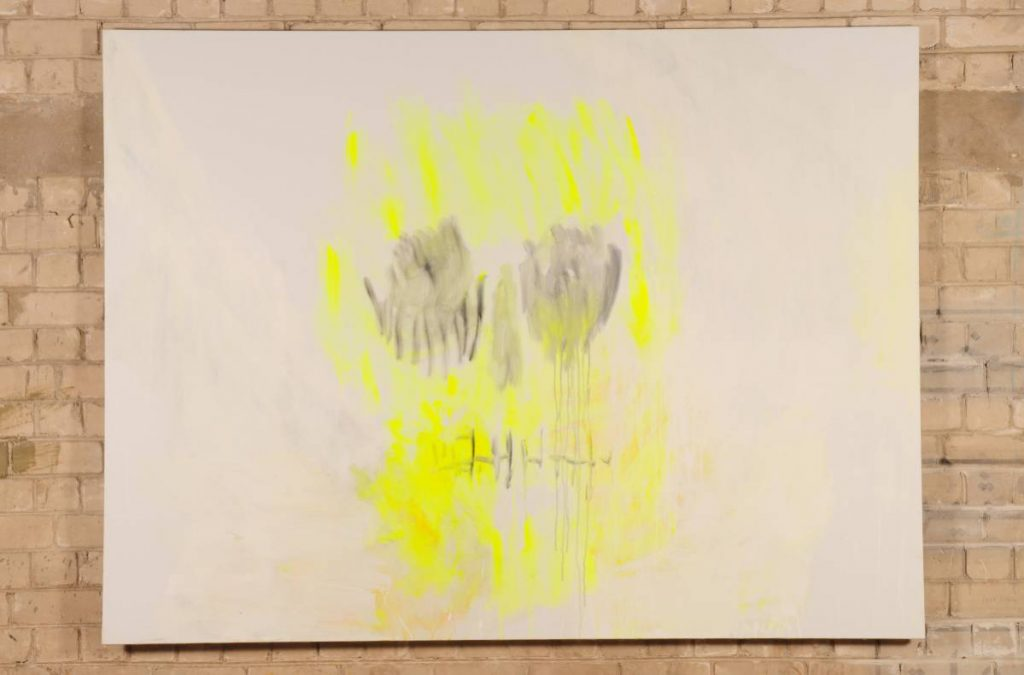 Yudith Levin, White Phosphorus 5, 2009, acrylic on canvas, 150 x 170 cm