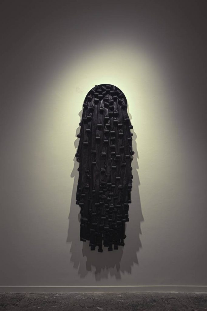 Nelly Agassi, Valerie I, 2011, perspex and rubands, 170 x 52 cm, unique