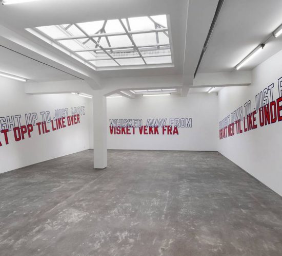 "Lawrence Weiner ""Whisked Away From"", at OSL Contemporary"
