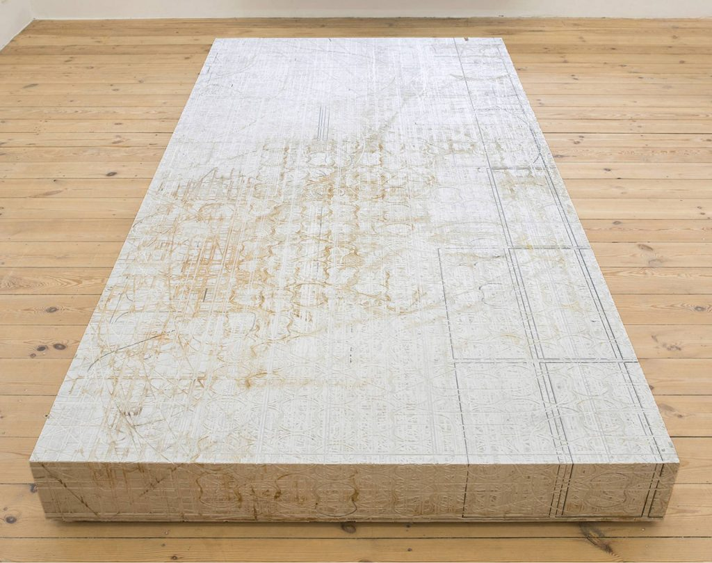 David Maljkovic, AAASSEMBLAGE (POSTAMENT 2) - 2016 - forex board - 220x110x15cm - unique