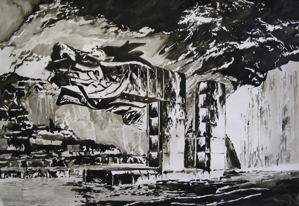 Karen Russo, Untitled, 2005, Indian Ink on Fabriano paper, 70x100cm