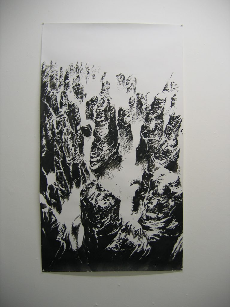 Karen Russo, Untitled, 2005, Ink on paper, 85x150cm