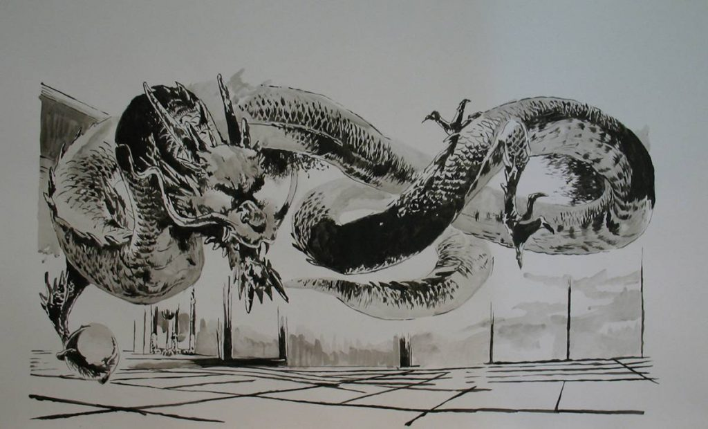 Karen Russo, Untitled, 2007, Indian ink on Fabriano paper, 137 x 79 cm
