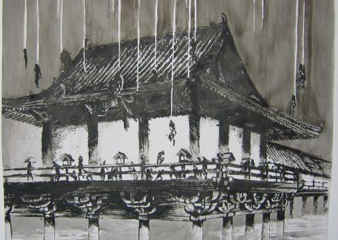 Karen Russo, Untitled, 2006, ink on paper, 83x30cm
