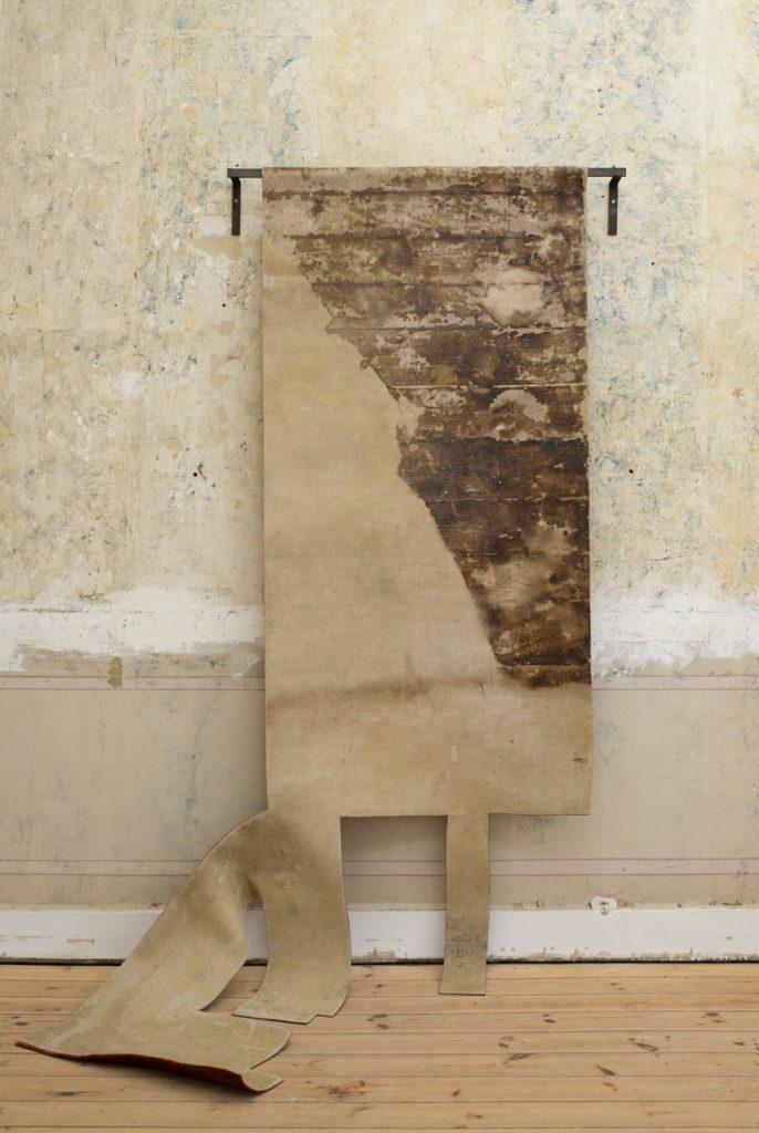 Miroslaw Balka, 245 × 188 × 14, 1992, Linoleum, steel, 245×188×14cm, Unique