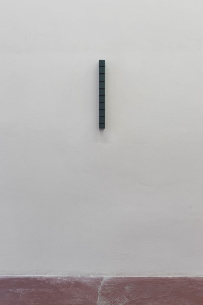 Florian Pumhosl, Plaster Object (Formed speech), Study, 2016, sealer on plaster, 53 x 6 x 4.5 cm, unique