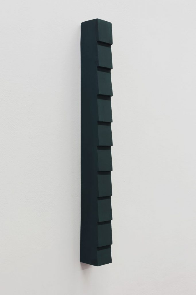 Florian Pumhosl, Plaster Object (Formed speech), (detail), Study, 2016, sealer on plaster, 53 x 6 x 4.5 cm, unique
