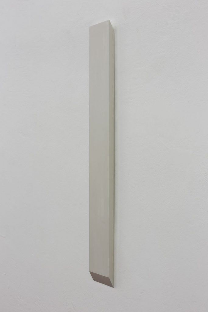 Florian Pumhosl, Plaster Object #4 (Formed speech), (detail), 2016, sealer on plaster, 106 x 3 x 13 cm, unique