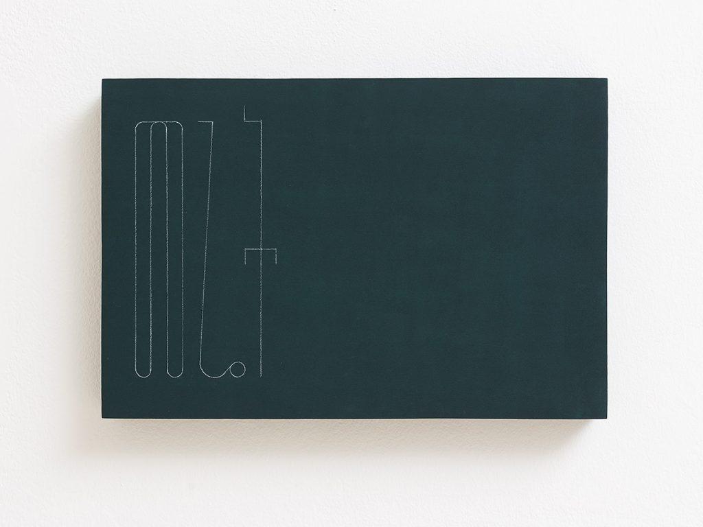 Florian Pumhosl, fidäl study (Land), 2016, plaster, casein paint, pastel, 33.5 x 22.5 x 3 cm, unique