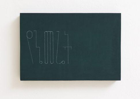 Florian Pumhosl, fidäl study (My land), 2016, Plaster, Casein paint, pastel, 33.5 x 22.5 x 3 cm, Unique