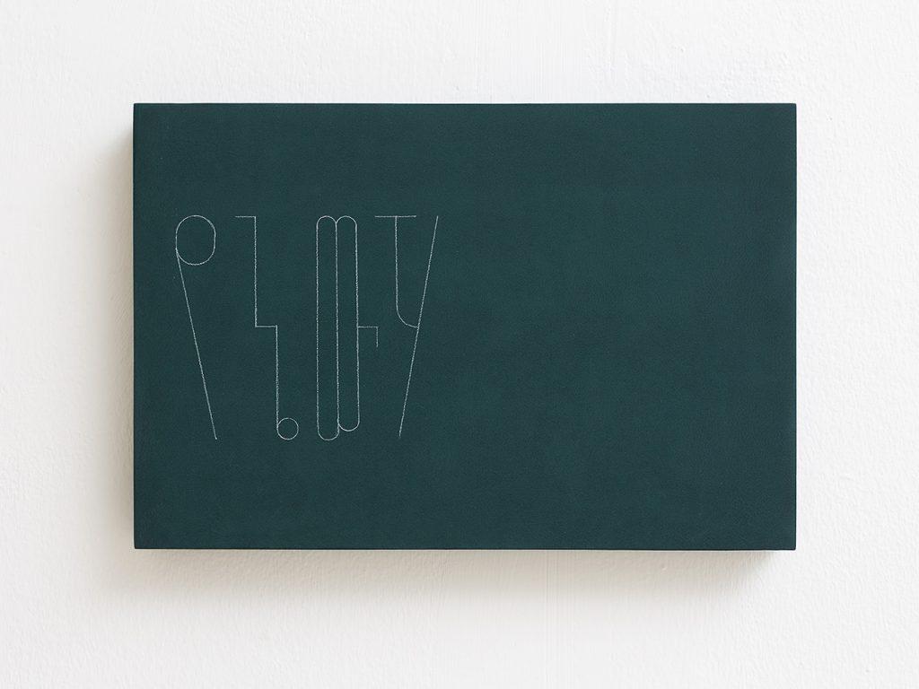 Florian Pumhosl, fidäl study (My water), 2016, plaster, casein paint, pastel, 33.5 x 22.5 x 3 cm, unique