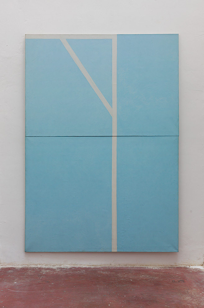 Michael Gross, Blue and white 1977, Oil on canvas, 280x200 cm, Unique