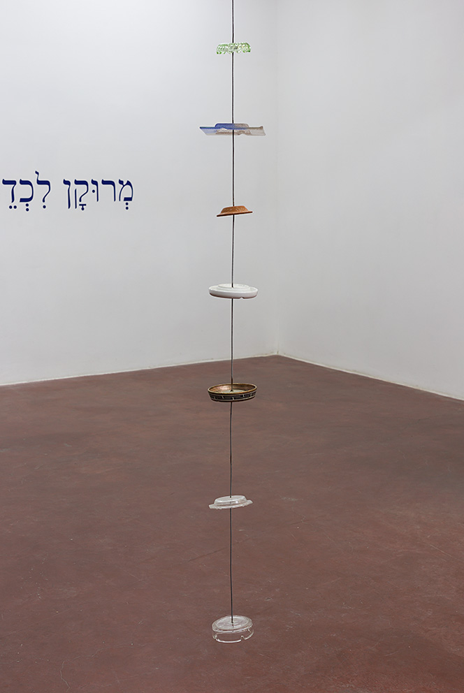 Miroslaw Balka, 345x21x21, 2010, Steel, ceramic, glass, revolving machine, 345x21x21 cm, Unique, (detail)