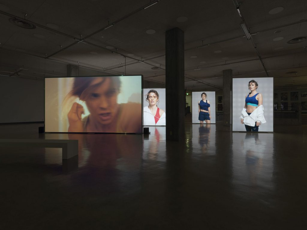 Simon Fujiwara, Joanne, 2016, mixed media installation (HD video 13:34 min),  installation view: The Photographers Gallery
