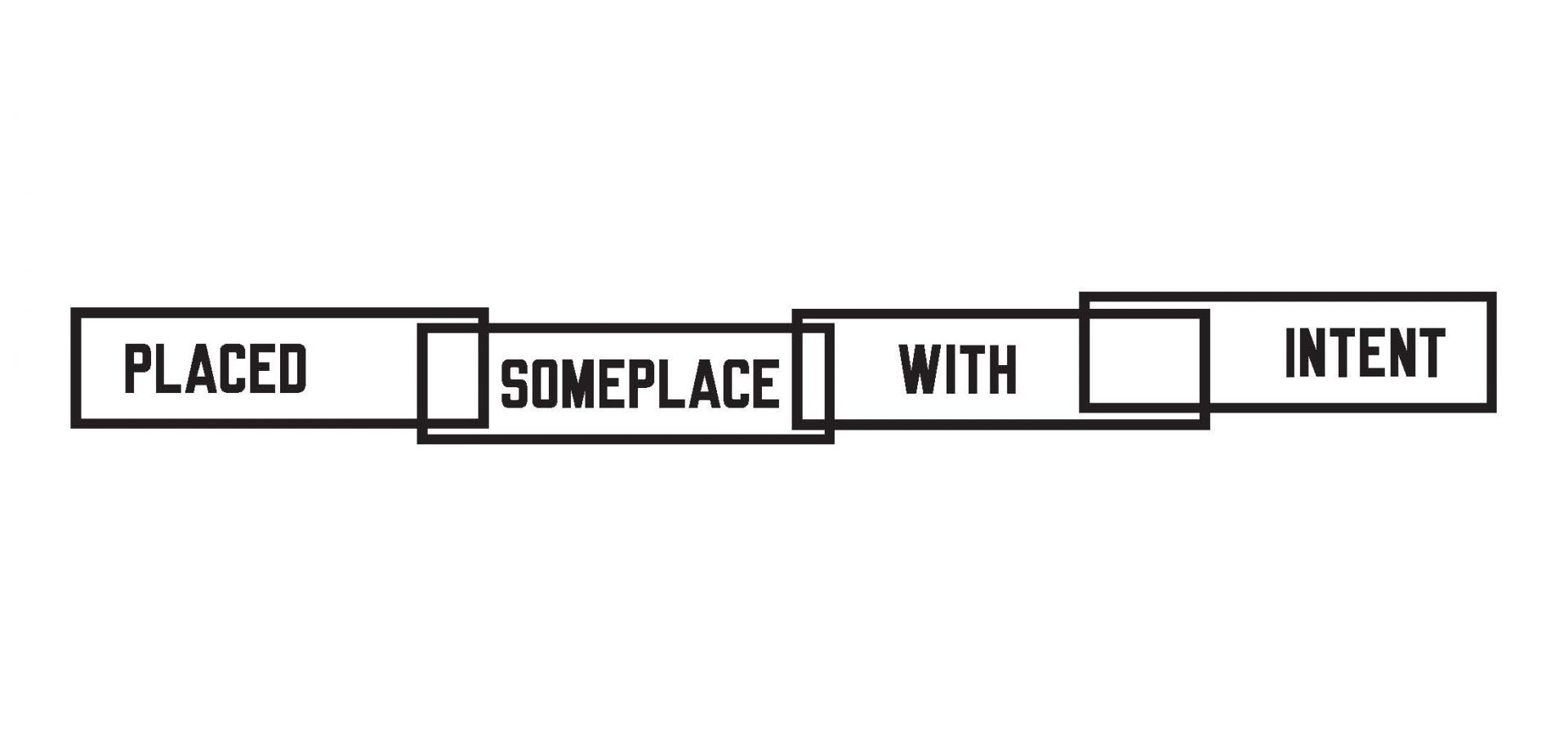 Lawrence Weiner, Placed Someplace with Intent, 2014 web homepage