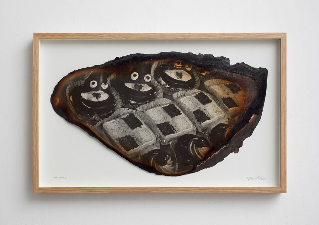 Miroslaw Balka, Black Cakes, 1993, burnt photograph, 40x64 cm, Unique