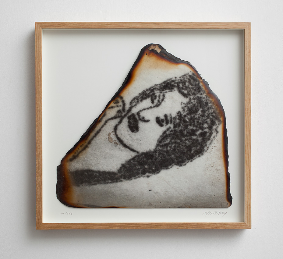 Miroslaw Balka, Woman/tattoo, 1993, burnt photograph, 48 x 50 cm, unique