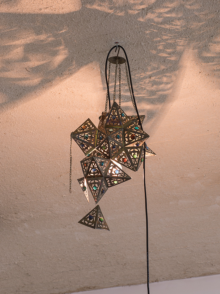 Latifa Echakhch, Nova (b), 2017, antique lamp, variable dimensions, unique