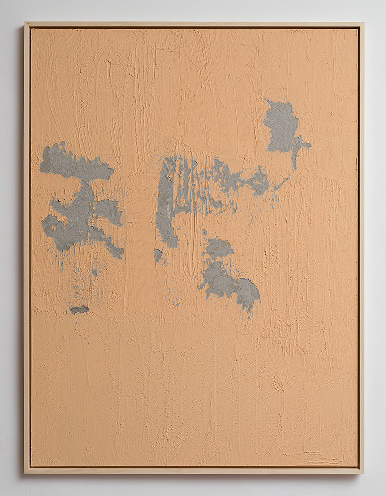 Latifa Echakhch, Nude, 2017, concrete, acrylic paint, 200x150x3cm, Unique