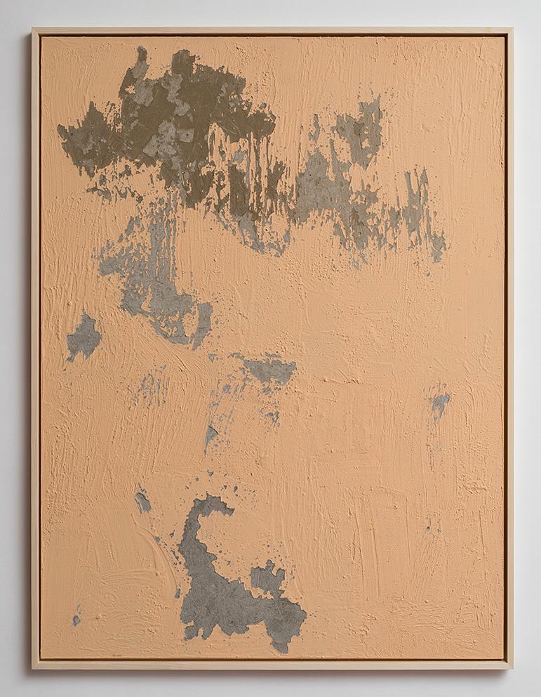 Latifa Echakhch, Nude, 2017, concrete, acrylic paint, 200x150x3 cm, Unique
