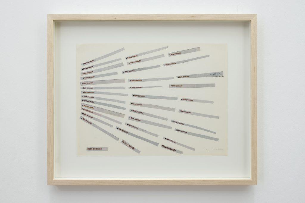 Jac Leirner, Ben Pensado, 2017, mixed media, 44x36x3cm, Unique