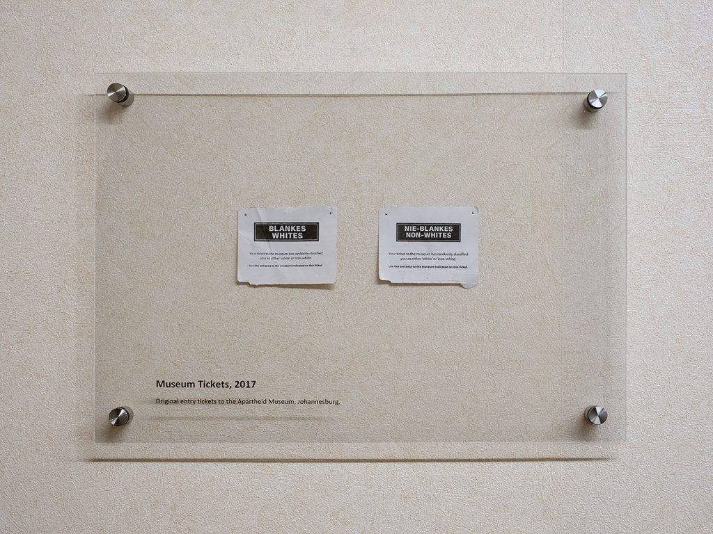 Simon Fujiwara, Museum tickets, 2017