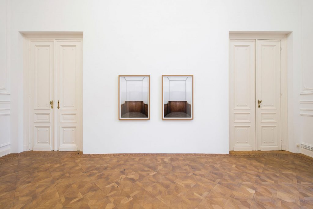 Moshe Ninio, Glass I, 2010 -11, Photograph, inkjet print in MDF frame, two units, 110x77cm, Unique