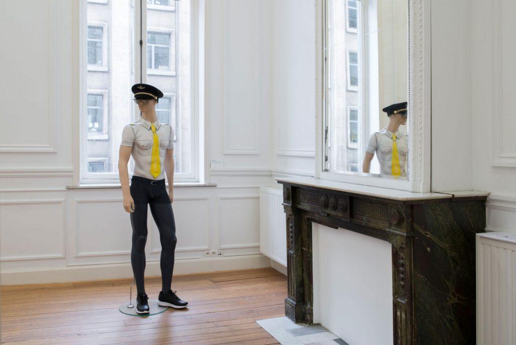Simon Fujiwara, Body Paint, 2016, Body-painted mannequin with costume, 195x60x40cm, Unique