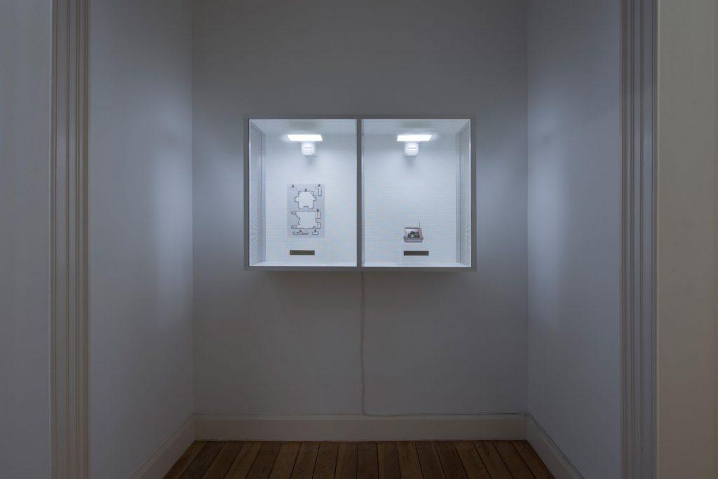 Simon Fujiwara, Innocent Material-Secret Annex (Negative), Secret Annex (Positive), 2017, Mixed media, 121x80.5x37.5cm, Unique
