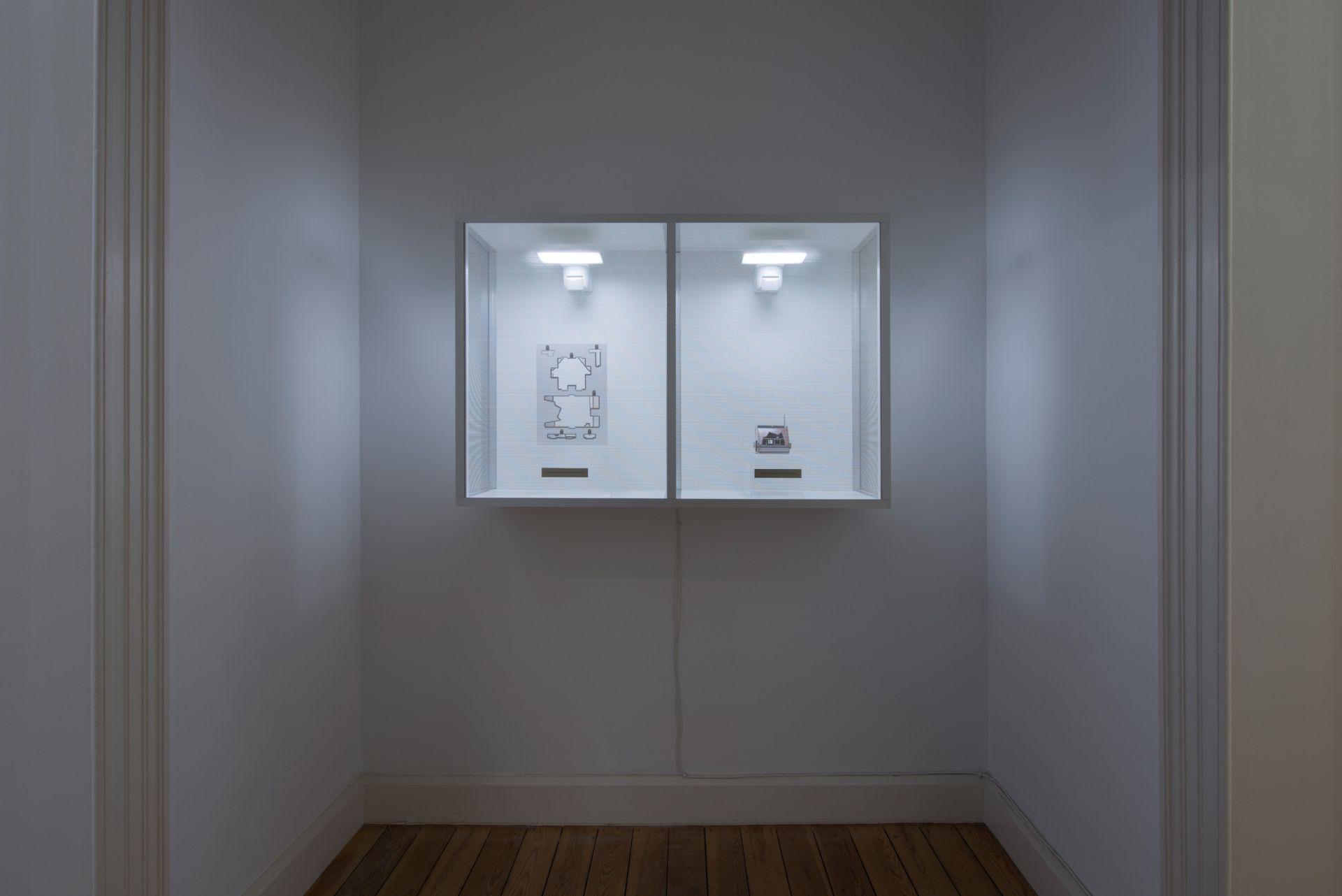 Simon Fujiwara, Innocent Material-Secret Annex (Negative), Secret Annex (Positive), 2017, Mixed media, 121×80.5×37.5cm, Unique