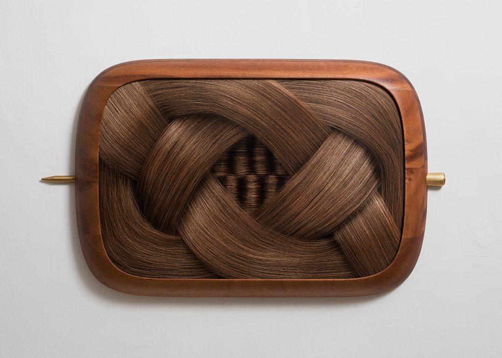 Adi Fluman, Untitled, 2017, 107 x 72 x 9.5 cm, inkjet print on paper, glass, mahogany wood, brass, unique