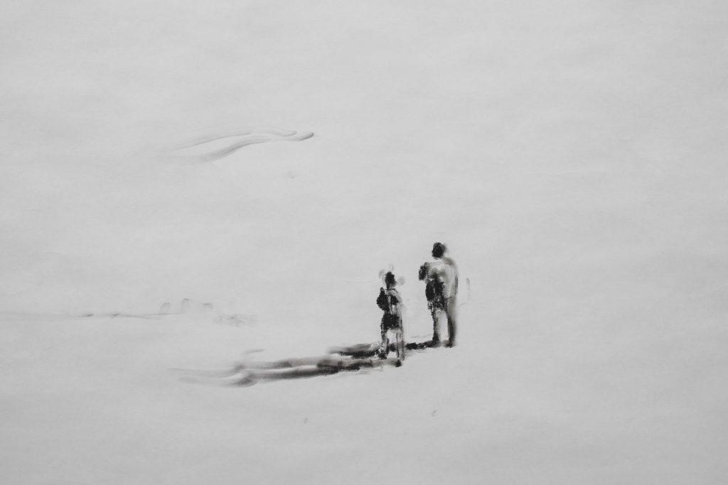 Adel Abdessemed, J'ai Peur, 2017, black chalk on paper, 285 x 520 cm, unique (detail)
