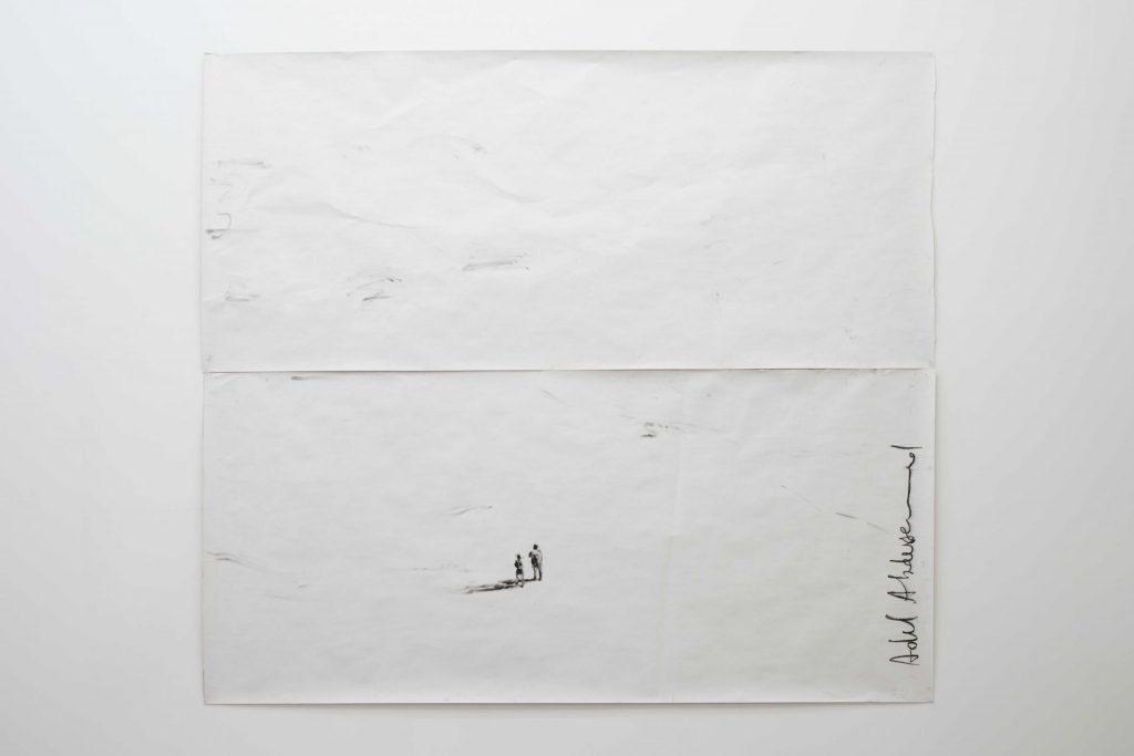 Adel Abdessemed, J'ai Peur, 2017, black chalk on paper, 285 x 520 cm, unique