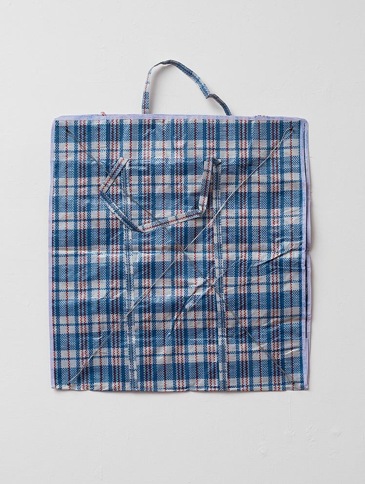 Etti Abergel, Preda, Tati bag, 2018, tati bag, iron wire, 63 x 60 cm, unique