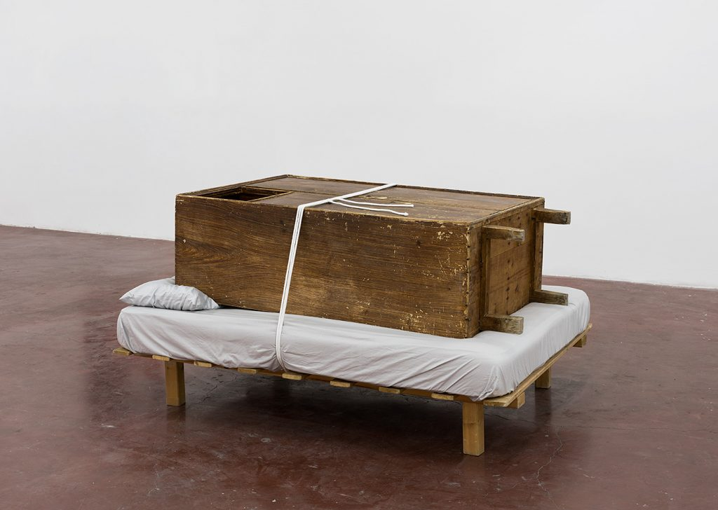 Tchelet Ram, True Love Leaves No Traces, 2013, 180 x 138 cm, closet, bed, rope, unique