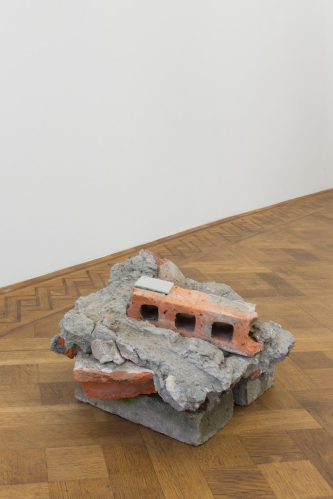 Miroslaw Balka, 50 x 40 x 27, 2018, concrete, brick, mirror, 50 x 40 x 27 cm, unique