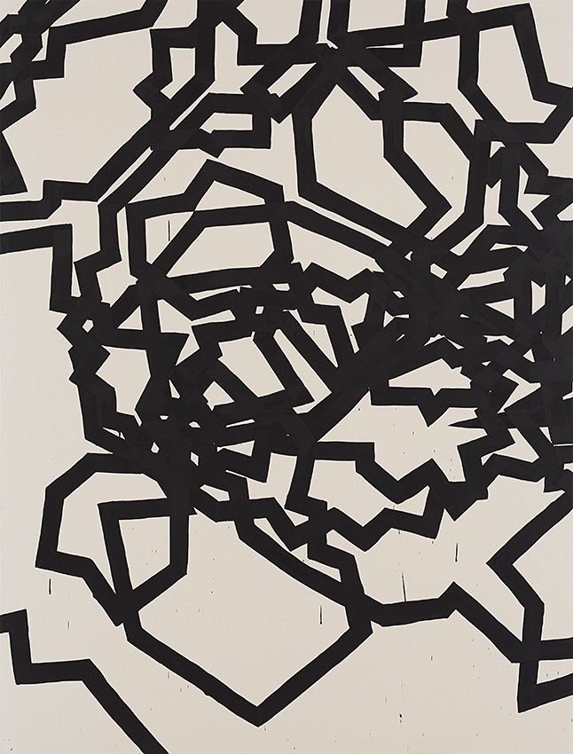 Latifa Echakhch, Dérives, 2015 Acrylic paint on canvas, 200 x 150 cm, unique