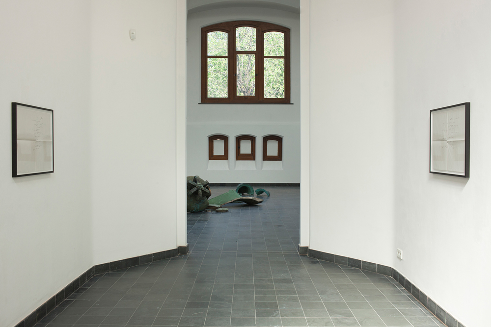 Latifa Echakhch, Falling, lovely and beautiful, 2018, Exhibition view, KIOSK, Ghent