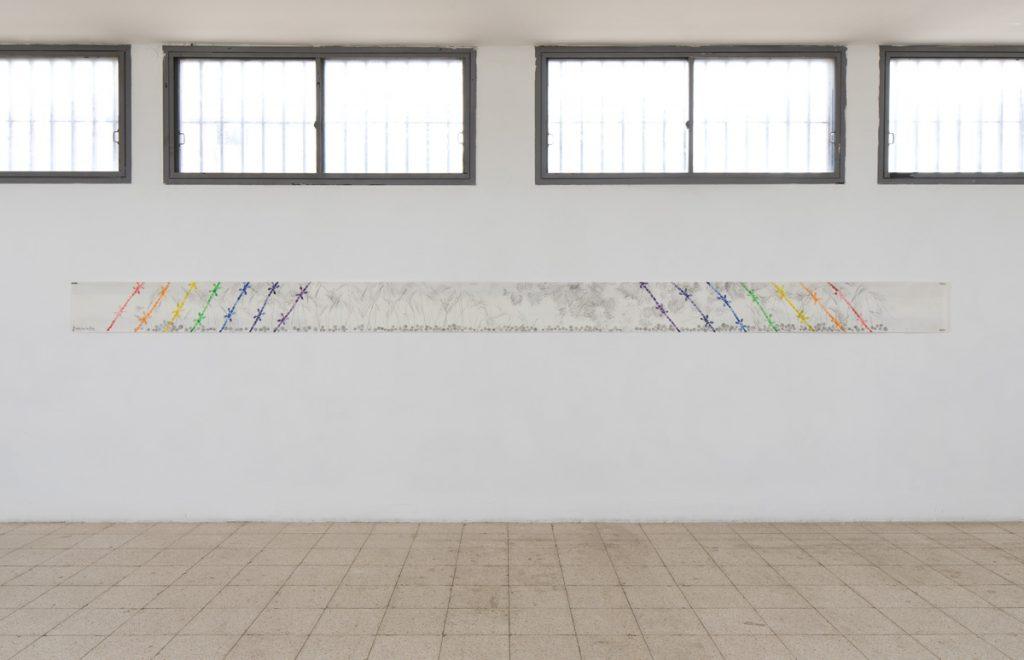 Mircea Cantor, Permanent Leak, 2016, print, 600 x 32 cm, unique AP