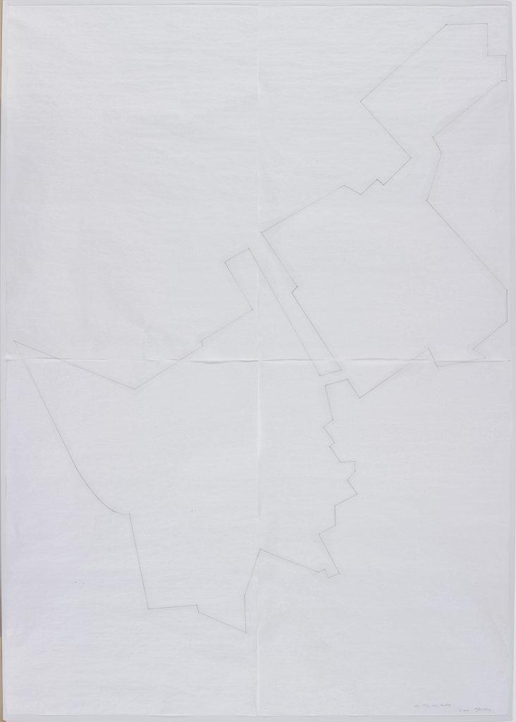 Miroslaw Balka, Otw. 1942 skin Healing, 2015, pencil, myrth on cardboard, 208 x 148 x 4 cm, unique