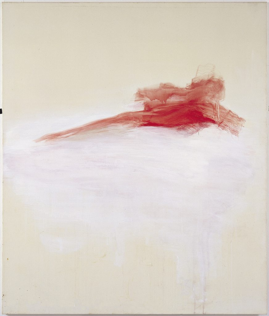 Yudith Levin , Red Pietà, 1997, acrylic on canvas, 200 × 170 cm, unique