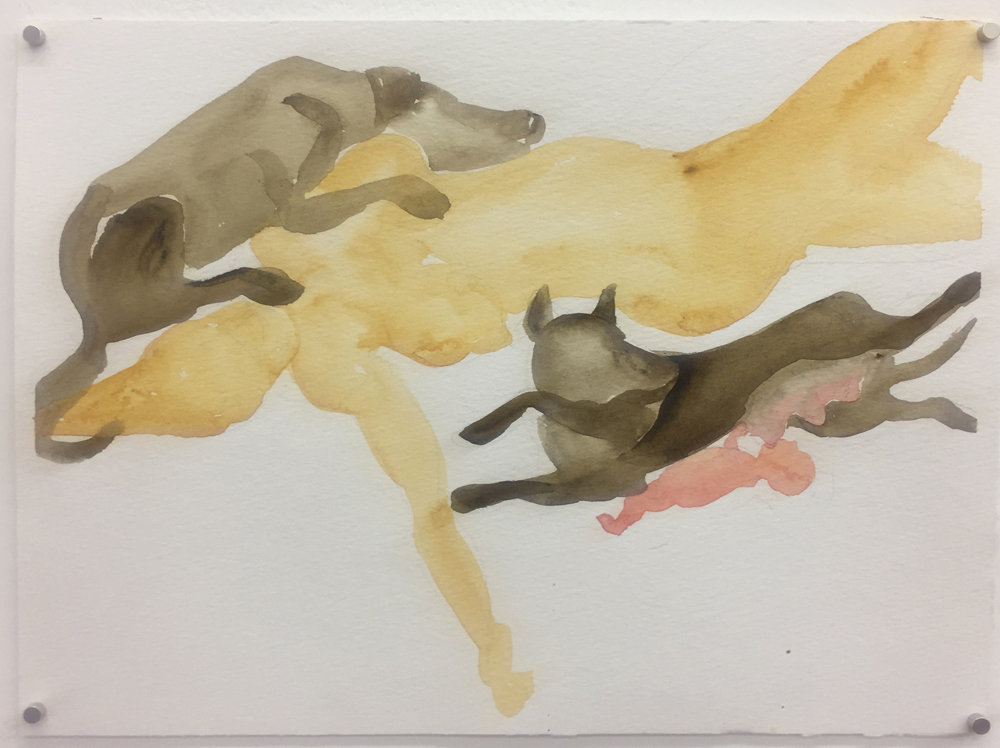 Alma Itzhaky, Untitled, 2018, water color on paper, 24 x 32 cm, unique